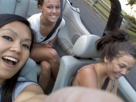 Aleesha driving in HS
