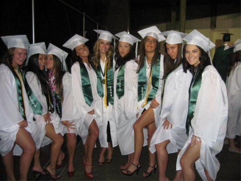 girls at HS grad