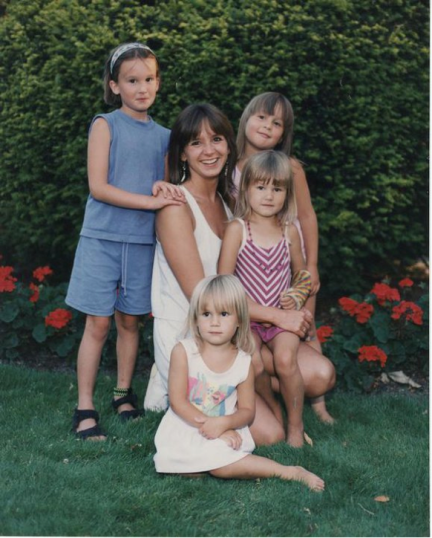 Mom and three of us when younger