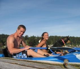 j amd me kayaking